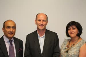Photo Sunil Mohindra (left) Chris Bishop  Meera Maini